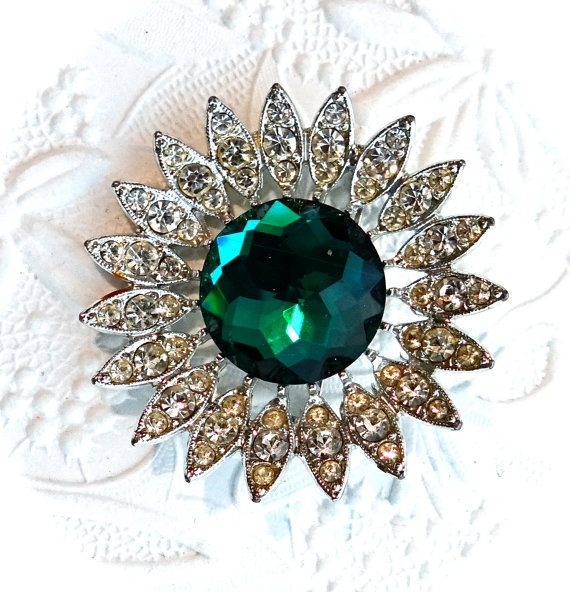 This striking brooch.