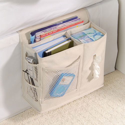 This bedside storage caddy can take on the weight of your lengthy reading list.