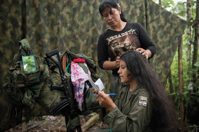 """""""As FARC reaches a historic deal with the Colombian government to end 50 years of hostilities, Mazar's work is a clear-eyed reminder of the diversity of the forces, and the wide-ranging reasons that they joined the rebels. At its heart, her work serves as a reminder of the people that make up the force, and who will be greatly effected by the changes to come."""" —KB"""