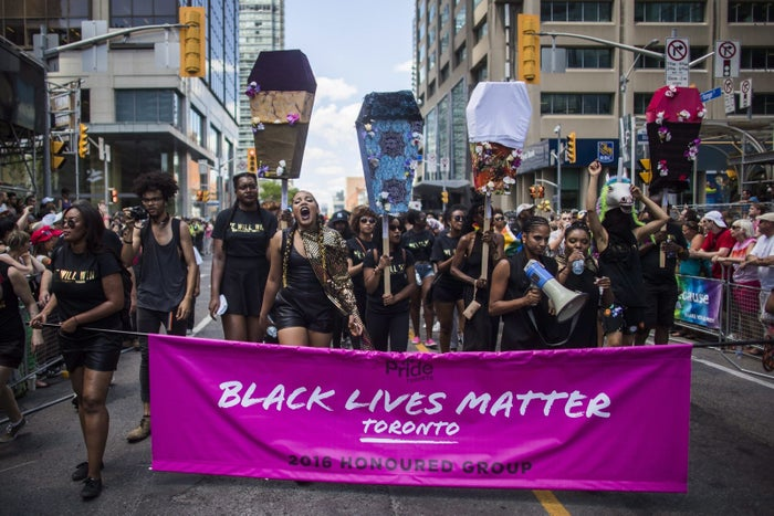 """In a statement shared by the Board of Directors on Tuesday, Pride Toronto also apologized """"emphatically and unreservedly"""" for """"repeated marginalization of the marginalized within our community that our organization has continued.""""The organization also said it regrets how it handled a protest from Black Lives Matter Toronto during this year's Pride parade."""
