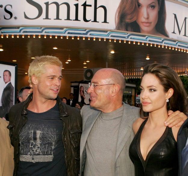 Анджелина Джоли и Брэд Питт фото пары от начала романа в