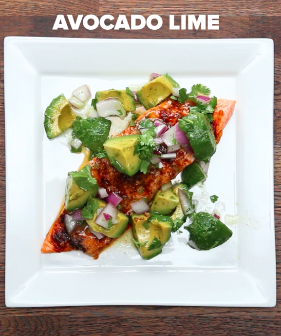 One-Pan Avocado Lime Salmon