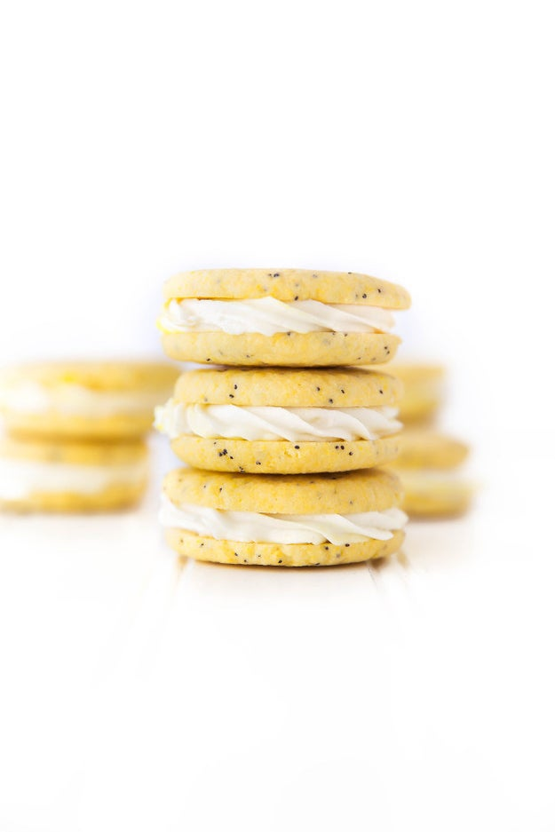 Lemon Poppy Seed Sandwich Cookies