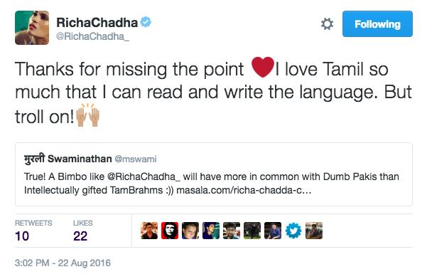 When Richa Chadha took on her trolls one by one.