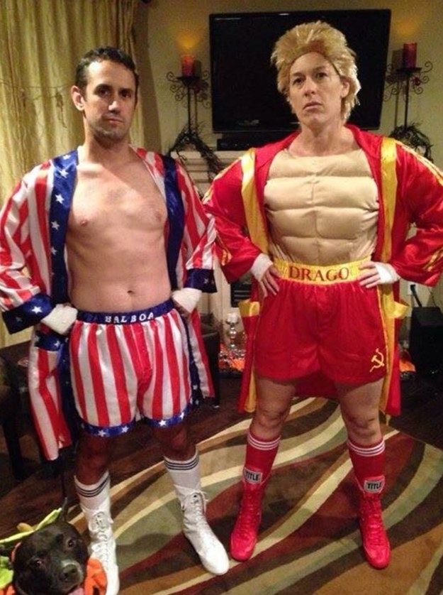 this rocky iv inspired couples costume with bonus adorable pumpkin dog sc 1 st buzzfeed