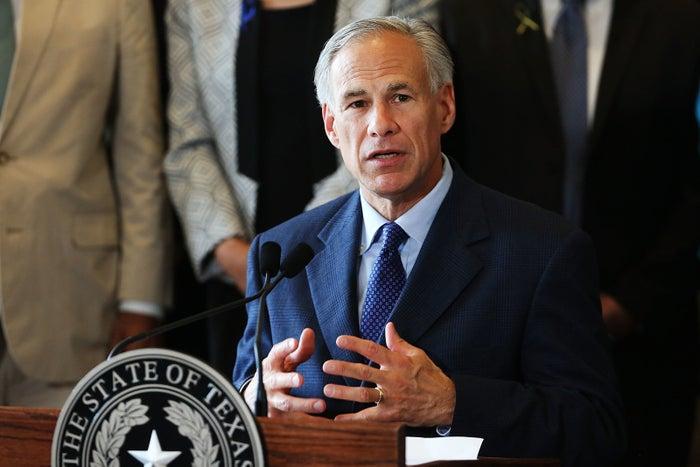 Texas Governor Greg Abbott speaks in Dallas on July 8, 2016.
