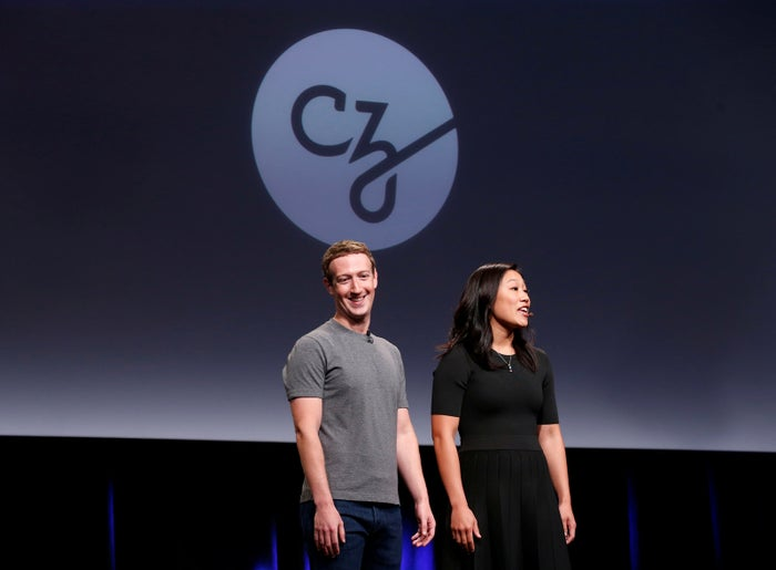 Priscilla Chan and her husband Mark Zuckerberg announce the Chan Zuckerberg Initiative at a news conference in San Francisco, California, on Sept. 21, 2016.