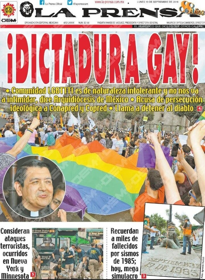 """The spokesman, Hugo Valdemar, dared non-discrimination officials to """"jail all the parents of families that don't accept the gay dictatorship and the empire of gender ideology."""""""