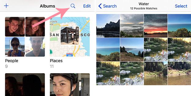La app Photos tiene también muchas nuevas funciones. Ahora puedes buscar personas, lugares o cosas.