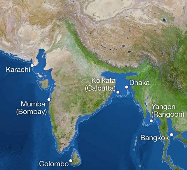 This Is A Map Of India If The Polar Ice Caps Melted And Its - Map of us after ice caps melt