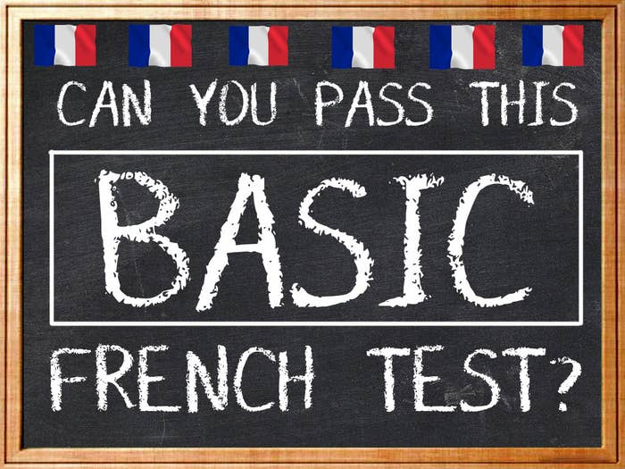 Can You Pass This Basic French Test