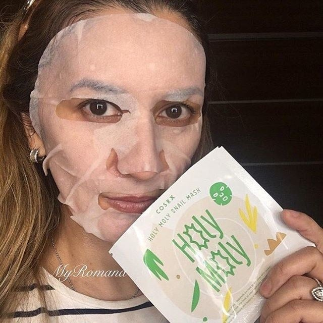 This is Cosrx's first venture into sheet masks, and it contains snail mucin (duh) and red ginseng water (which has a whole slew of good-for-you properties, like anti-inflammation) as its base. Get it from Amazon for $3.