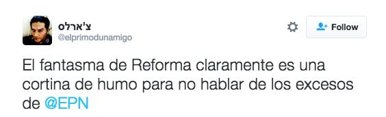 Y por supuesto, no faltó quien culpó a nuestro querido EPN.