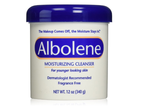 Cleanser from Albolene that also works as a great moisturizer.