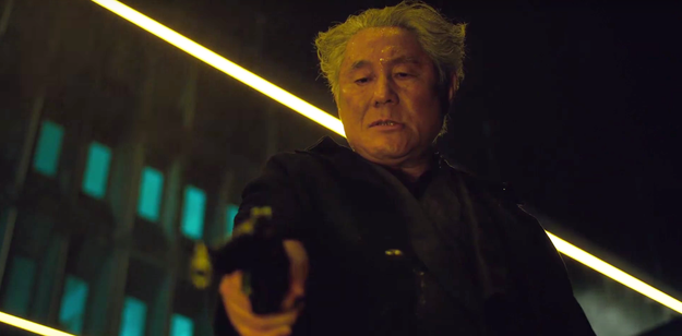 """The fourth reveals a first look at Takeshi """"Beat"""" Kitano as Lt. Col. Daisuke Aramaki."""