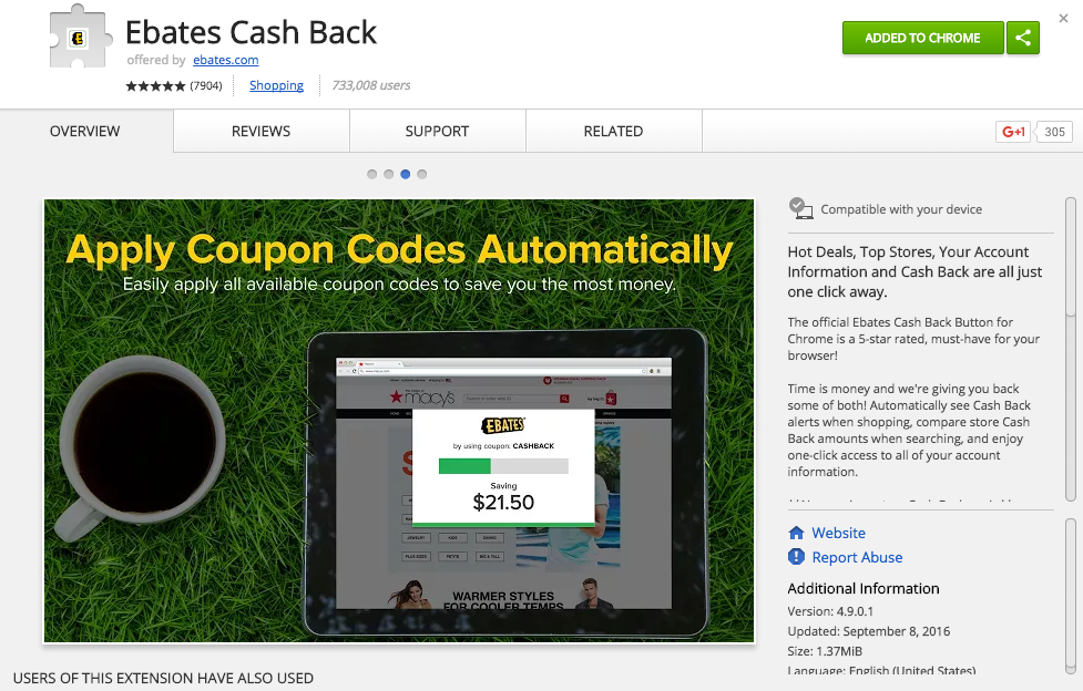 how to get ebates.ca button