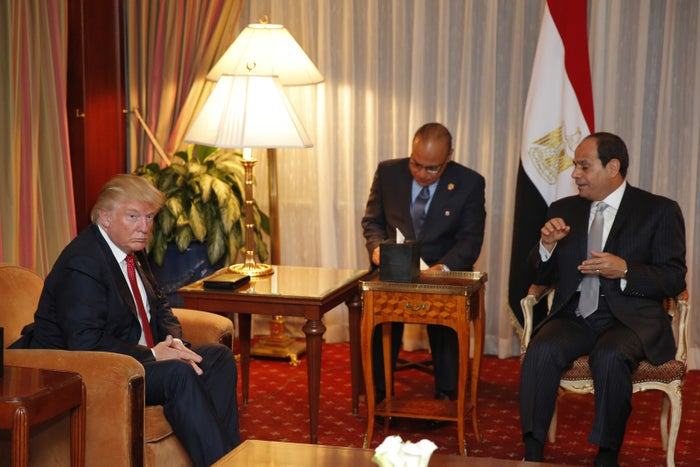 Trump and Sisi met on the sidelines of the United Nations General Assembly on Tuesday —Sisi was the only world leader Trump met with that day.