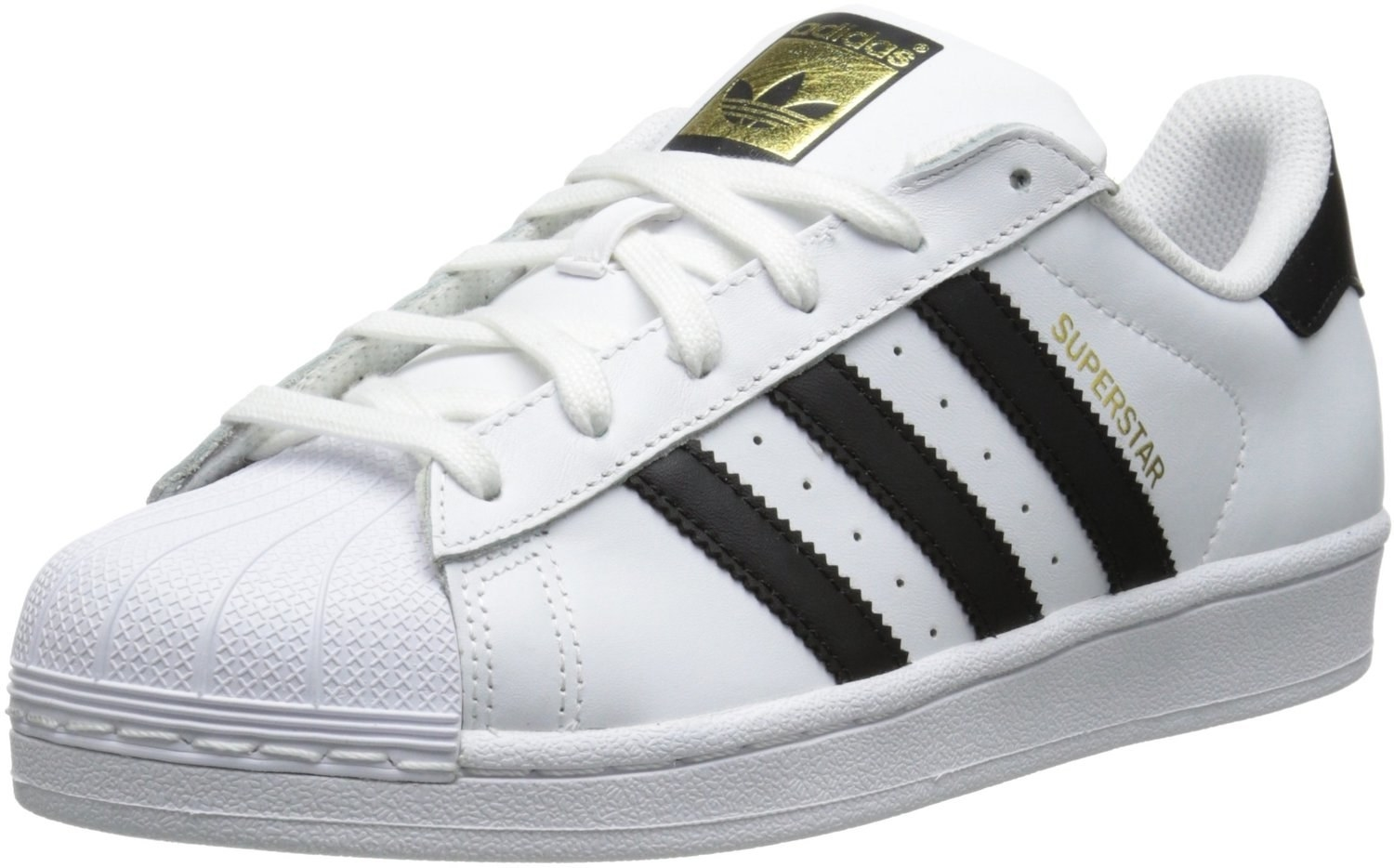 These Adidas Superstars that are comfy and go with anything.
