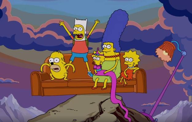 La página oficial de Hora de Aventura reveló hace unos minutos el que será el chiste del sillón del próximo capítulo de Los Simpson.