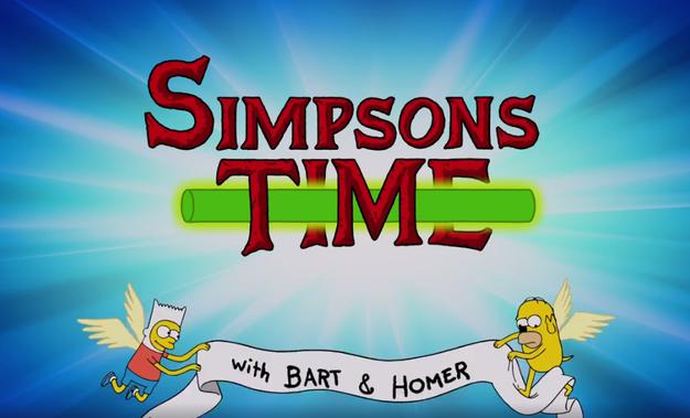 Sí. Es Springfield reimaginado en el universo de Finn y Jake.