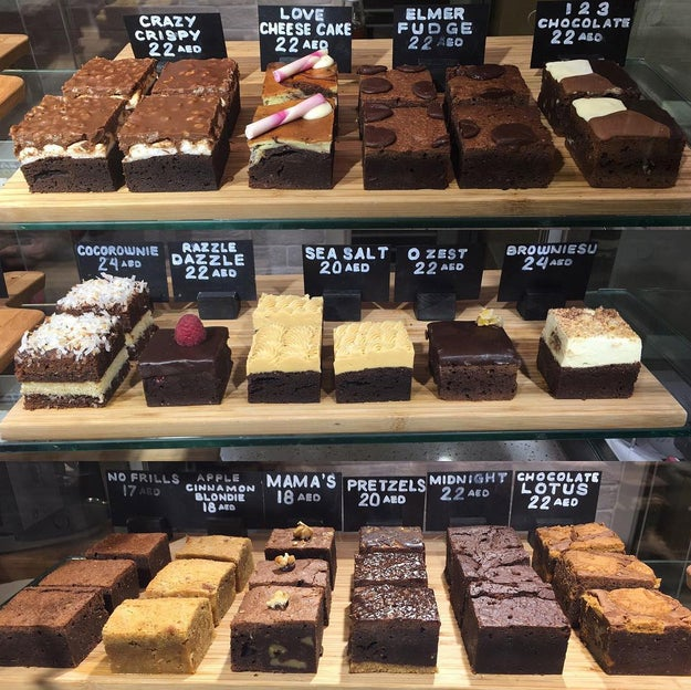 Gorge on several varieties of soft, chewy brownie at The Brownie Box.