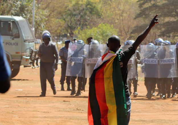 People in Zimbabwe have spent the last several months rallying against the 36-year-long rule of President Robert Mugabe. The latest government move to calm the restless masses: banning flags.