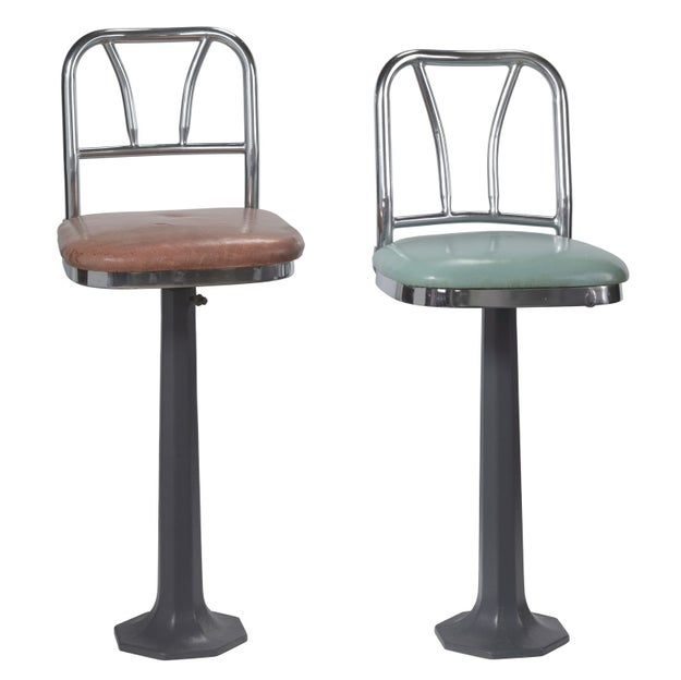 Lunch counter stools used at a sit-in at a restaurant in Greensboro, North Carolina.