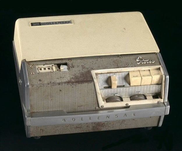 A tape recorder used by Malcolm X in 1960.