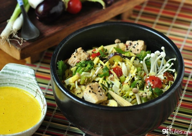 Cold Coconut Curry Noodle Salad