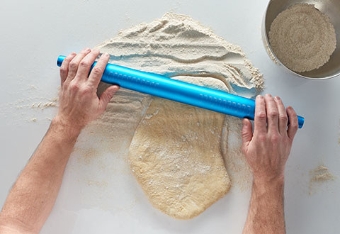 """Keep """"The World's Coolest Rolling Pin"""" in the fridge, then when you pop it out the anodized aluminum will keep the chill so that you can keep on rolling."""