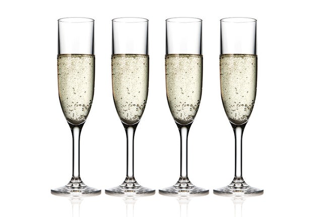 Made of revolutionary Tritan™ Copolyester, these Unbreakable Champagne Flutes feel, look, and handle like real glass, but don't have any of the risk.