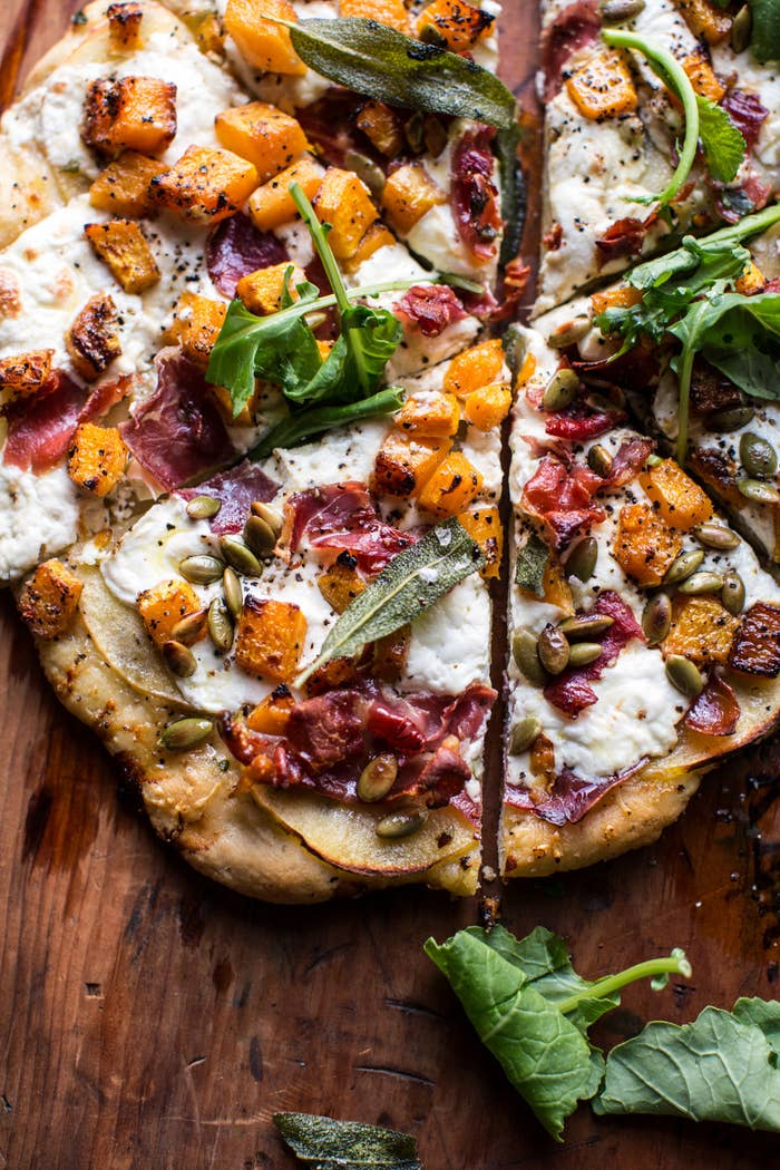 Because pizza goes with absolutely everything. Recipe here.
