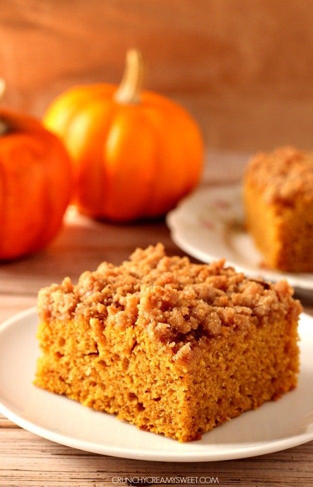 The Best Pumpkin Coffee Cake