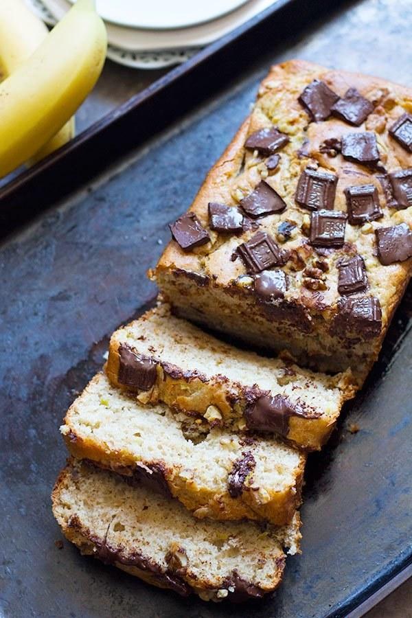 Banana Chocolate Chunk Bread
