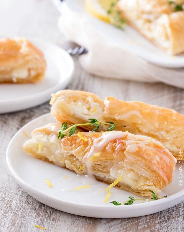 Lemon Almond Cheese Danish