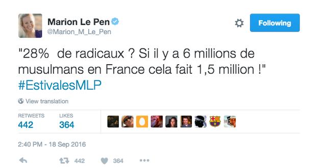 Par ailleurs, certains politiques qui commentent les chiffres de l'Institut Montaigne ont tendance à oublier l'estimation de l'Institut, selon laquelle il y a entre 3 et 4 millions de musulmans en France.