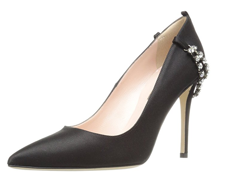 489a6c21f350 The Penthouse and its delicate embellished chain is a black satin  chandelier for your feet!