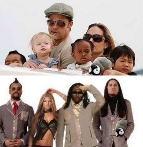 Los hijos de Brangelina (Q.E.P.D) se convirtieron en los Black Eyed Peas.