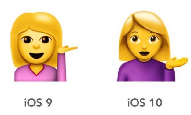 La niña del emoji se ve así después de la nueva actualización...