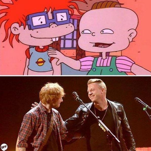 Macklemore y Ed Sheeran son amigos desde siempre...