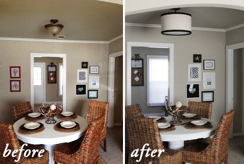 Make a drum pendant ceiling light fixture coverup that won't compromise your relationship with your landlord.