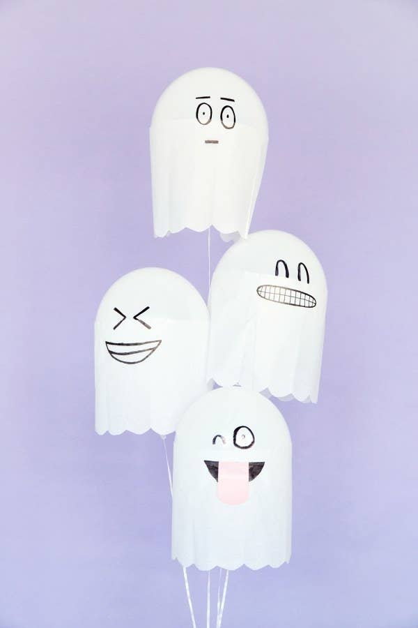 Decorate with Sharpies — and you can draw scary faces on them, too, if you want that vibe! Here's how to make them.