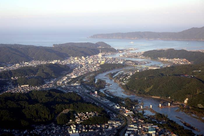東日本大震災から約5年半、岩手県宮古市の空撮(2106年8月31日撮影)