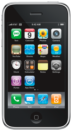 This is the iPhone 3G, which added 3G capabilities to the original iPhone smartphone.