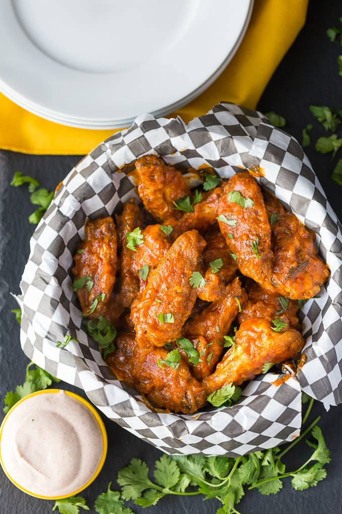 12 deliciously crispy chicken wings that are perfect for game day spicy butter chicken wings recipe here forumfinder Images
