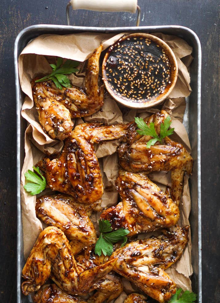 12 deliciously crispy chicken wings that are perfect for game day baked teriyaki chicken wings recipe here forumfinder Images