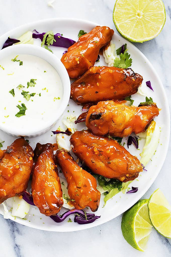 12 deliciously crispy chicken wings that are perfect for game day spicy honey lime chicken wings recipe here forumfinder Images