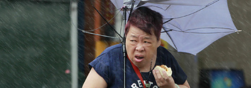 This Woman Ate A Pork Bun In A Typhoon And Now Everyone Loves Her