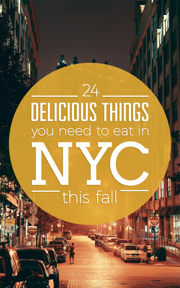 24 NYC Foods That Just Taste Better In Fall