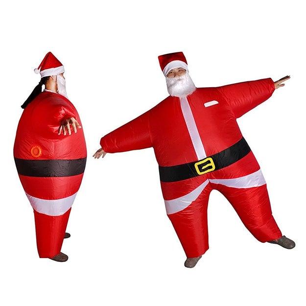 El mejor disfraz de Halloween es navideño. Y es que ¿cómo vas a resistirte a ser un Santa inflable? ($650)